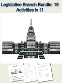 Legislative Branch Activity Bundle: 15 Lessons in 1
