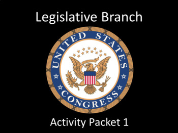 Legislative Branch Activity Pack 1