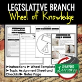 Legislative Branch Activity, Wheel of Knowledge Interactive Notebook