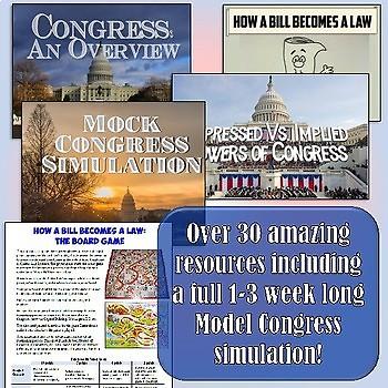 Legislative Branch American Government & Civics Unit Plan