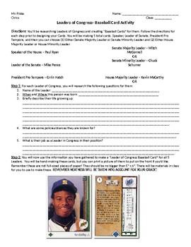 Legislative Branch Baseball Cards