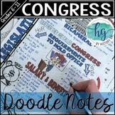 Legislative Branch (Congress) Doodle Notes and Digital Gui