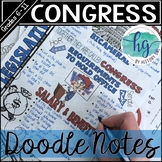 Legislative Branch (Congress) Doodle Notes