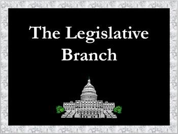 Legislative Branch Constitution Exploration Worksheet and PowerPoint