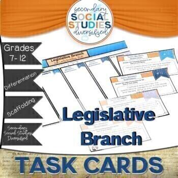 Legislative Branch Differentiated Task Cards