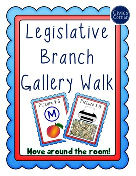 Legislative Branch Gallery Walk and Words to Know - Article 1 - Congress -Civics