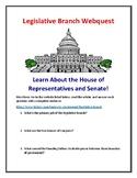 Legislative Branch (House of Representatives & Senate) Webquest With Answer Key!