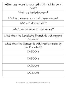 Legislative Branch KABOOM!