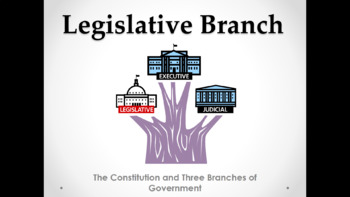 Legislative Branch (Lesson Plan, PowerPoint, Activity, and Quiz)