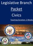 Legislative Branch Packet - Two Weeks!