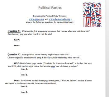 Create Your Own Political Party Teaching Resources | Teachers Pay ...