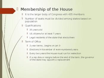 Legislative Branch Powerpoint
