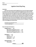 Legislative Branch Rap / Song Project