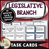 Legislative Branch Task Cards for Government and Civics