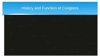 Legislative Branch Vocabulary and Videos