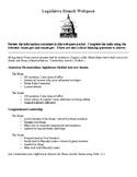 Legislative Branch Webquest + Guided Notes