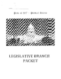Legislative Branch Work Packet/Activities Bundle