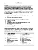 Legislative Branch Worksheets