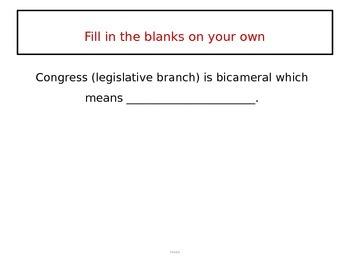 Legislative Branch and Lawmaking (CE.6c)