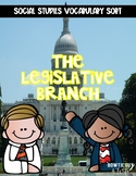 Legislative Branch of Government Vocabulary Sort