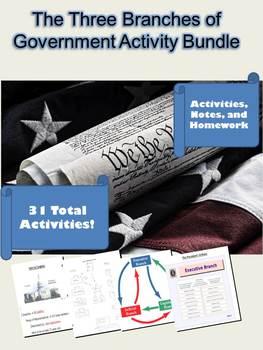 Legislative, Executive, Judical Branch Activities: 31 Total Activities