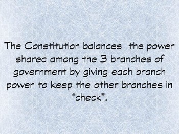 Legislative, Executive and Judicial Branches of Government