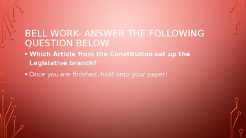 Legislative Powers Powerpoint