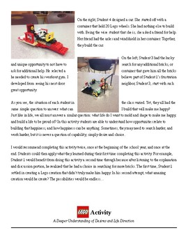 Lego Activity- A Stronger Understanding of Desires and Life Direction
