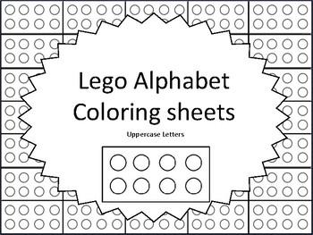 Lego Alphabet Coloring Sheets Uppercase