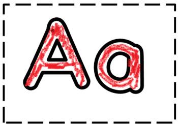Lego Alphabet Hat Cut, Paste and Trace