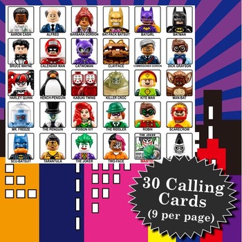 Lego Batman Movie 4x4 Bingo - 30 Cards