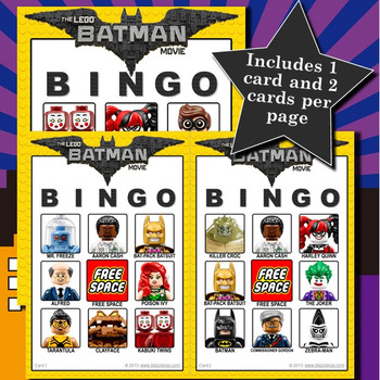 Lego Batman Movie 3x3 Bingo - 30 Cards