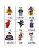 Lego Batman Sight Word Cards (Fry's Word List 1-100)
