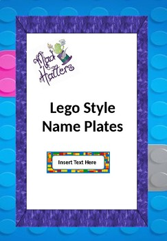 Lego Block Name Plates