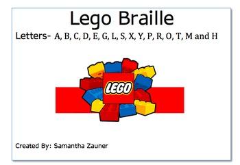 Lego Braille File Folder Game