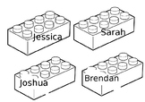 Lego Brick Classroom Display