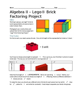 Lego® Brick Polynomial Factoring Project