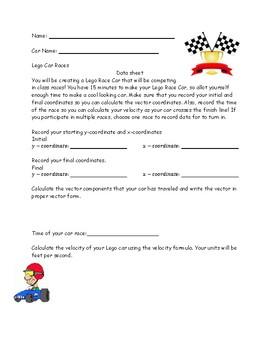 Lego Car Races and Vectors
