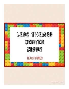 Lego Center Signs