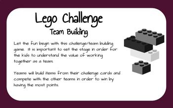 Lego Challenge Activity and Team Building