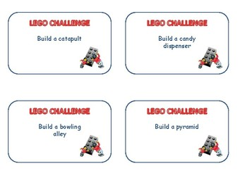 Lego Challenge Cards