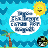 Lego Challenge Cards for August