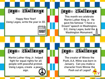 Lego Challenge Cards for January