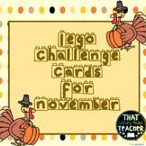 Lego Challenge Cards for November