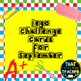 Lego Challenge Cards for September