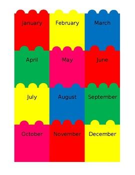 Lego Class Birthday Chart