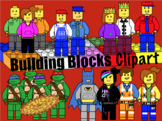 Building Blocks and Characters Clipart