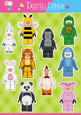 Lego Clipart - Lego Animal Suit Characters - Animal Clipar