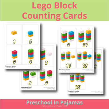 Lego Counting Card Set