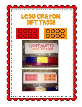 Lego Crayon Gift Tag